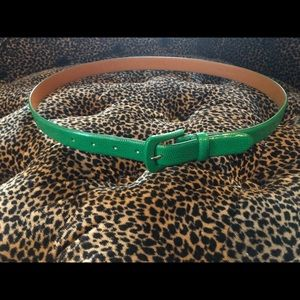 Size Large Green Leather Ralph Lauren Belt